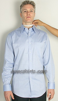custom dress shirt - neck