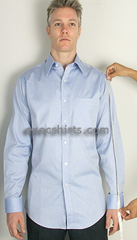 custom dress shirt - sleeve length