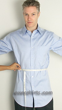 custom dress shirt - waist
